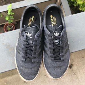 Adidas sambarose platform sneakers